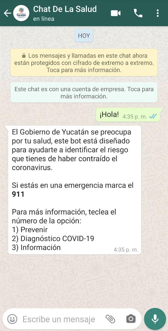 El Gobierno del Estado lanza un chat vía WhatsApp para personas que presenten síntomas de Coronavirus