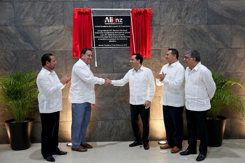 Asiste Gobernador Mauricio Vila Dosal a inauguración de nueva Unidad Académica de Alianz Comunidad Estudiantil
