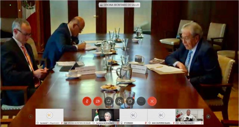 Preside Mauricio Vila reunión nacional de la Comisión de salud de la CONAGO con presencia de autoridades federales para analizar planes para reapertura económica nacional