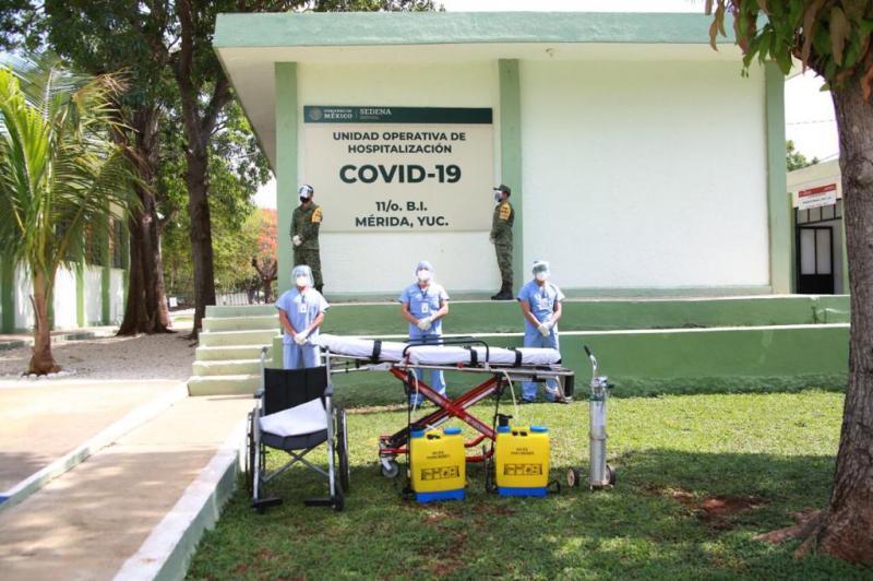 Suman esfuerzos en atención médica por Covid, Gobierno del Estado y Unidad Operativa Hospitalaria del 11 Batallón de Infantería