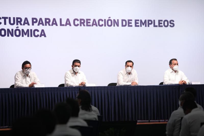 Presenta el Gobernador Mauricio Vila Dosal Plan Estatal de Infraestructura para la Creación de Empleos y Apoyo a la Reactivación Económica