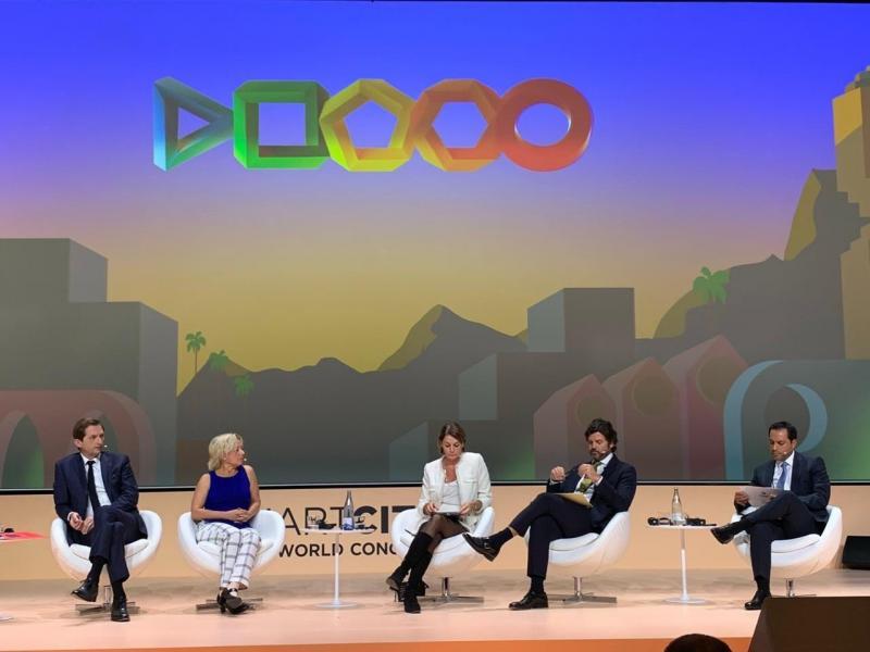 Vila Dosal interviene en la mesa panel Ciudades Líderes en la Revolución Global Verde dentro de la Smart City Expo World Congress, que se realiza en Barcelona, España.