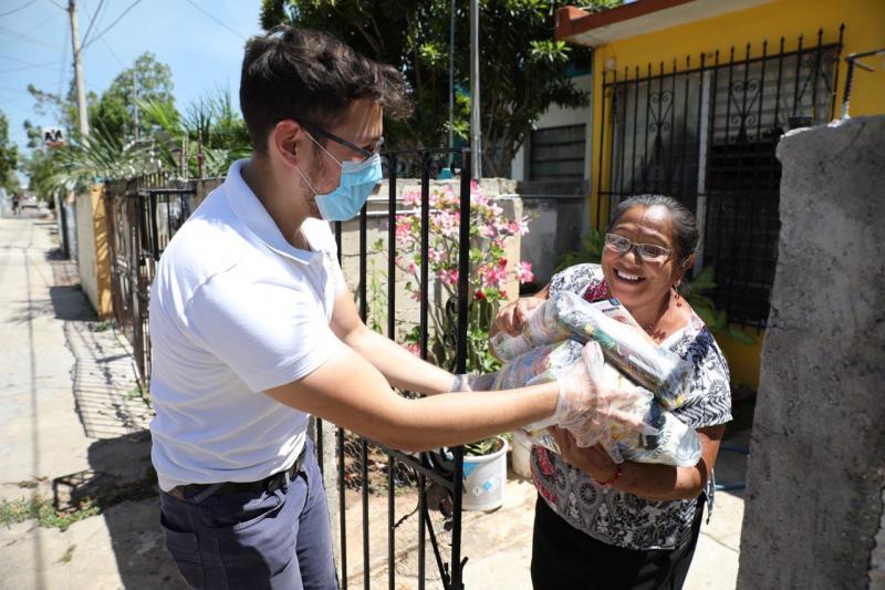 Gobierno Estatal entregará a domicilio un total de 1.8 millones de paquetes alimentarios para enfrentar contingencia del Coronavirus.