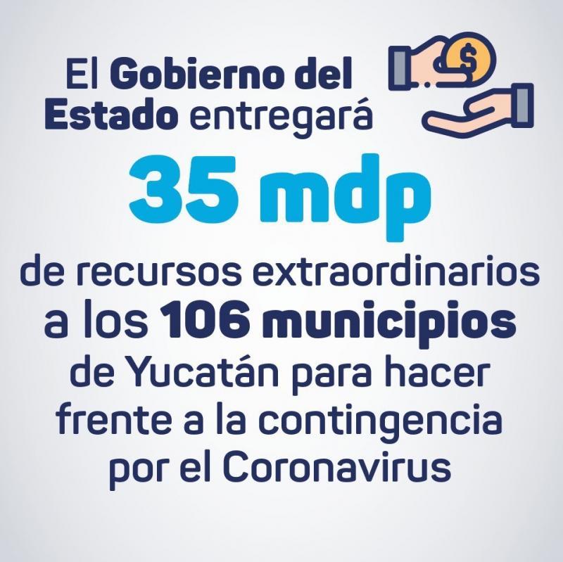 El Gobierno del Estado otorgará recursos económicos extraordinarios a todos los municipios de Yucatán