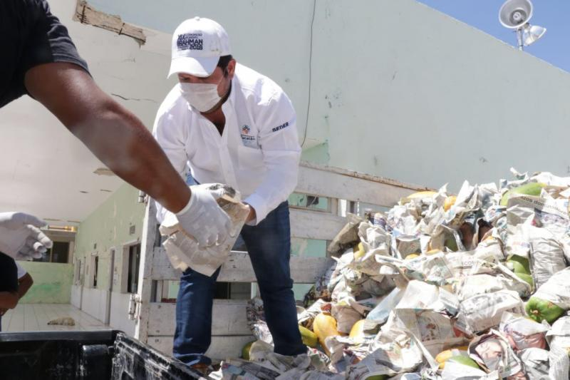 Familias yucatecas reciben apoyos alimentarios a través del proyecto Yucatán Solidario