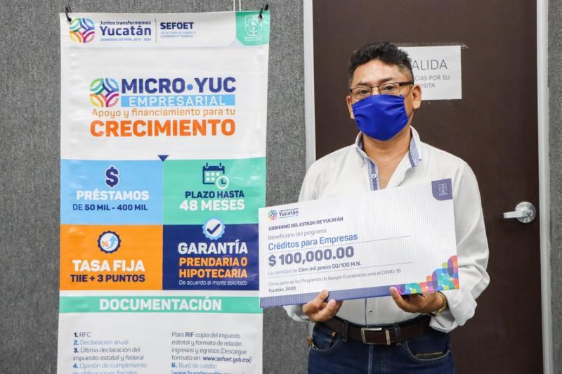 En marcha Créditos a micro, pequeñas y medianas empresas del Gobierno del Estado para proteger empleos de yucatecos ante contingencia