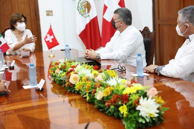 Gobierno de Suiza expresa interés en aumentar inversiones y acuerdos en Yucatán